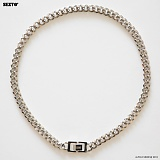SEXTO - [Handmade]Modern Chain Necklace X3 Silver 목걸이 체인목걸이