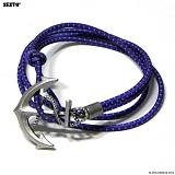 SEXTO - [Hanmade]E-Anchor Purple 팔찌