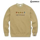 [앨빈클로]ALVINCLO MAR-754BE딜리셔스 맨투맨 크루넥 스��셔츠
