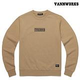 밴웍스 크로스오버 맨투맨 티셔츠 BEIGE(V15TS412) 베이지맨투맨