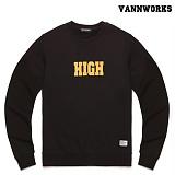 밴웍스 HIGH SWEATSHIRT BLACK(V15TS414) 맨투맨