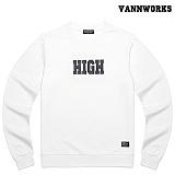 밴웍스 HIGH SWEATSHIRT WHITE(V15TS414) 맨투맨