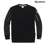 [앨빈클로]ALVINCLO MAR-787B 소매가돋보이는MA-1항공 맨투맨 크루넥 스��셔츠