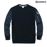 [앨빈클로]ALVINCLO MAR-787N 소매가돋보이는MA-1항공 맨투맨 크루넥 스��셔츠