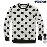 [크루클린] CROOKLYN DOT 맨투맨 티셔츠 MRL378 크루넥 스��셔츠