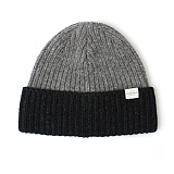 [언더컨트롤]UNDERCONTROL - BEANIE / BOLD FIT / WOOL / BLOCK / CHARCOAL 숏비니 비니 와치캡