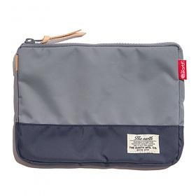 [디얼스]THE EARTH - CB N POUCH - GREY/NAVY 파우치 손가방 포켓