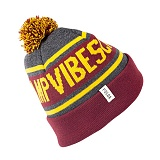 [폴러스터프]POLER STUFF - Gas Station Beanie (Burgundy/Light Heather Grey/White)