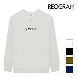 [리오그램]REOGRAM - OG V-NECK SWEATSHIRTS (Ivory) 크루넥 스��셔츠 맨투맨