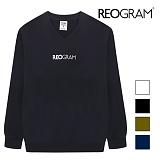 [리오그램] REOGRAMOG V-NECK SWEATSHIRTS (Navy) 크루넥 스��셔츠 맨투맨T1