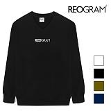 [리오그램] REOGRAMOG V-NECK SWEATSHIRTS (Black) 크루넥 스��셔츠 맨투맨T1