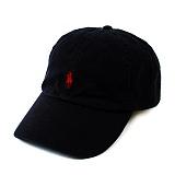 [POLO]폴로 랄프로렌 말자수 로고 캡 모자 BLACK 검정 캠프캡 POLO 야구모자 볼캡 폴로캡