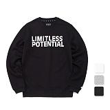 [언리미트]Unlimit - L.P Crewneck (AE-C049) 기모 맨투맨 크루넥 스��셔츠
