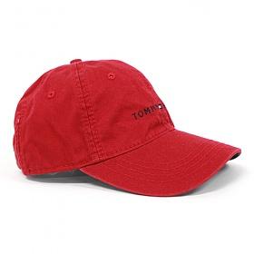 [TOMMY HILFIGER]타미힐피거 로고 모자 878600_616 레드 (남여공용) Tommy Hilfiger 야구모자 볼캡 폴로캡 정품 국내배송