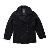 [알파인더스트리] Alpha Industries - USN Pea Coat (Black) 미해군 머프포켓 피코트