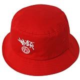 [헤이터] 커시브 로고 레드 버킷햇 Cursive Logo Red Bucket Hat