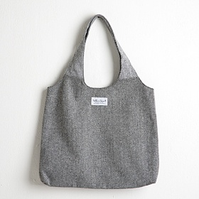 [옐로우스톤] HERRINGBONE ROUND SHOPPER BAG - YS2031GR /GRAY 쇼퍼백 에코백 헤링본 가방