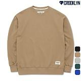 [크루클린] CROOKLYN 오버핏 맨투맨 MRL416 크루넥 스��셔츠