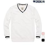 [크루클린] CROOKLYN 브이넥 맨투맨 티셔츠 MRL418 크루넥 스��셔츠