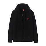 BRAVADO - THE ROLLING STONES CLASSIC TONGUE EMB ZIPUP BLACK 후드집업