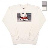 [파이브데크]FIVE DECK - 5M-006 1996 DECK 맨투맨 크루넥 기모 그레이 화이트