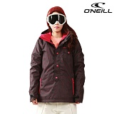 오닐 스노우보드복/455034/14/15 CRYSTAL ANORAK JACKET/여성용/BLACK AOP W/PINK