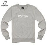 [세븐틴스]SEVENTEENTH - JAPAN FONT MTM (GRY) 맨투맨