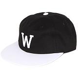 [앱놀머씽] W Baseball Cap (Black/White) 볼캡 야구모자 모자 캡모자