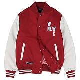 [앱놀머씽] Cotton Varcity Jacket (Red/White) 자켓 점퍼 야구점퍼 스타디움자켓