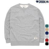[크루클린] CROOKLYN 베이직 무지 맨투맨 MRL425 크루넥 스��셔츠