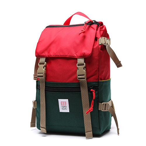[토포디자인]TOPO DESIGNS - ROVER PACK TDRP013 (FOREST/RED) Made in USA 백팩