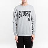 [스투시]STUSSY - STUSSY IST CREW 1913677 (GREY HEATHER) 로고 맨투맨