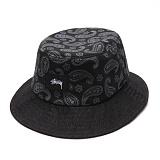 [스투시]STUSSY - SIMPLE PAISLEY BUCKET HAT 132690 (BLACK) 페이즐리 로고 버킷햇 벙거지