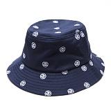 [스투시]STUSSY - SS EMBROIDERED BUCKET HAT 132694 (NAVY) 로고 버킷햇 벙거지
