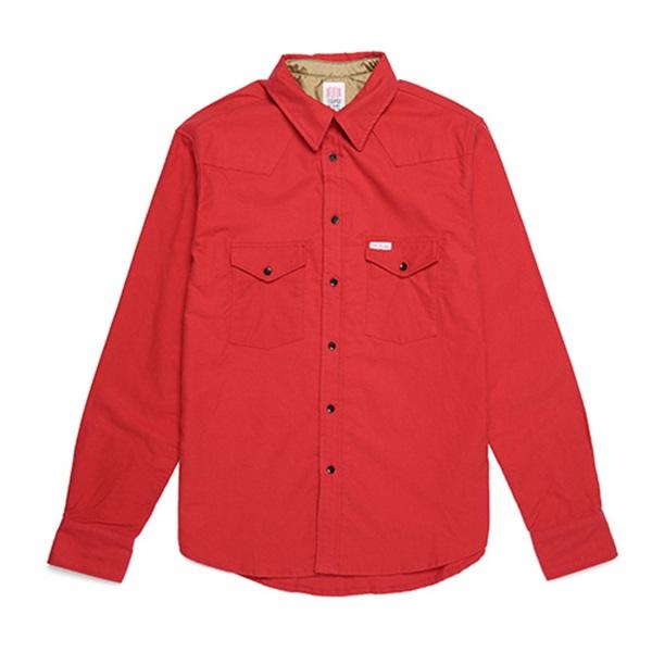 [토포디자인]TOPO DESIGNS - MOUNTAIN SHIRT FLANNEL TDMTS015FL (RED) Made in USA