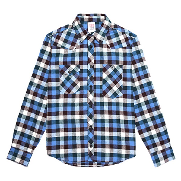 [토포디자인]TOPO DESIGNS - WORK SHIRT PLAID FLANNEL TDWKS015FPL (BLUE) Made in USA