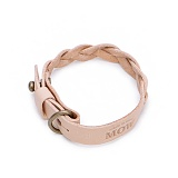[모우]MOW - Single knot leather bracelet beige