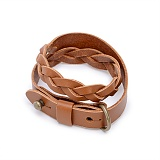 [모우]MOW - Double knot leather bracelet brown