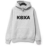 [코싸] koxa n logo hoodie fw gray 기모 후드티