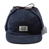 [디얼스]THE EARTH - CORDUROY EARFLAP CAMP CAP - NAVY 캠프캡 모자 캡모자 귀달이모자 트래퍼햇