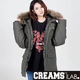 [크림스랩]CREAMS LAB - N3B 자켓 ver.2 카키 (N3B JAKET VER.2 KHAKI) 패딩 봄버 점퍼 파카