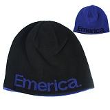[EMERICA] PURE REVERSIBLE BEANIE (Black/Blue)