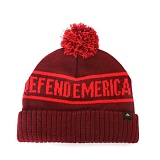 [EMERICA] DEFENT EMERICA ROLL-UP POM BEANIE (Maroon)