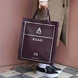 [에이비로드] ABROAD - Eco Laether 2WAY Bag (wine)_ 가죽 토트백