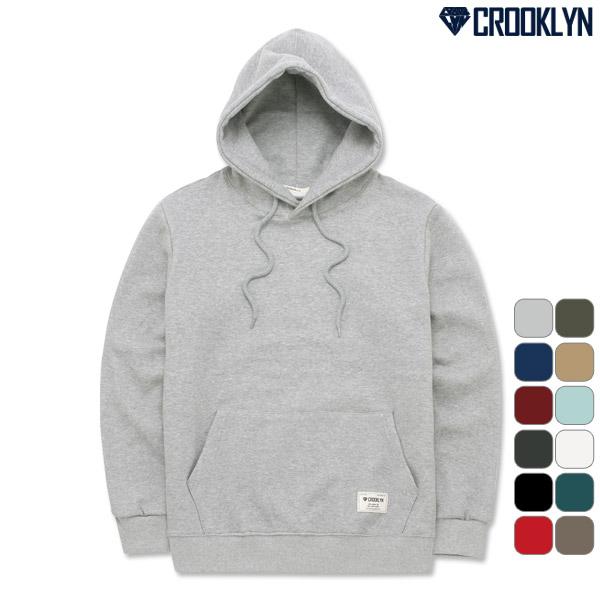 [크루클린] CROOKLYN 무지 기모 후드 티셔츠 HRL600 기모후드티 후디