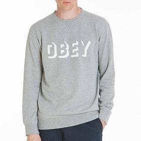 ※[오베이]OBEY - DROPOUT CREW 111600061 ( HEATHER GREY) 로고 쭈리 스��셔츠 맨투맨 크루넥