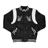 [크룩스앤캐슬]CROOKS & CASTLES Woven Baseball Jacket - Memento (Black) 야구점퍼_야구자켓_스타디움자켓