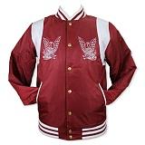 [크룩스앤캐슬]CROOKS & CASTLES Woven Baseball Jacket - Memento (Burgundy) 야구점퍼_야구자켓_스타디움자켓