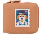 [비욘드클로젯X매니퀸] 지퍼 반지갑 - BERLIN STAMP 반지갑 지갑 지퍼지갑 지퍼반지갑