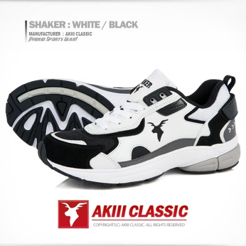 [아키클래식]AKIII CLASSIC -  - 쉐이커(SHAKER)  화이트/블랙 운동화
